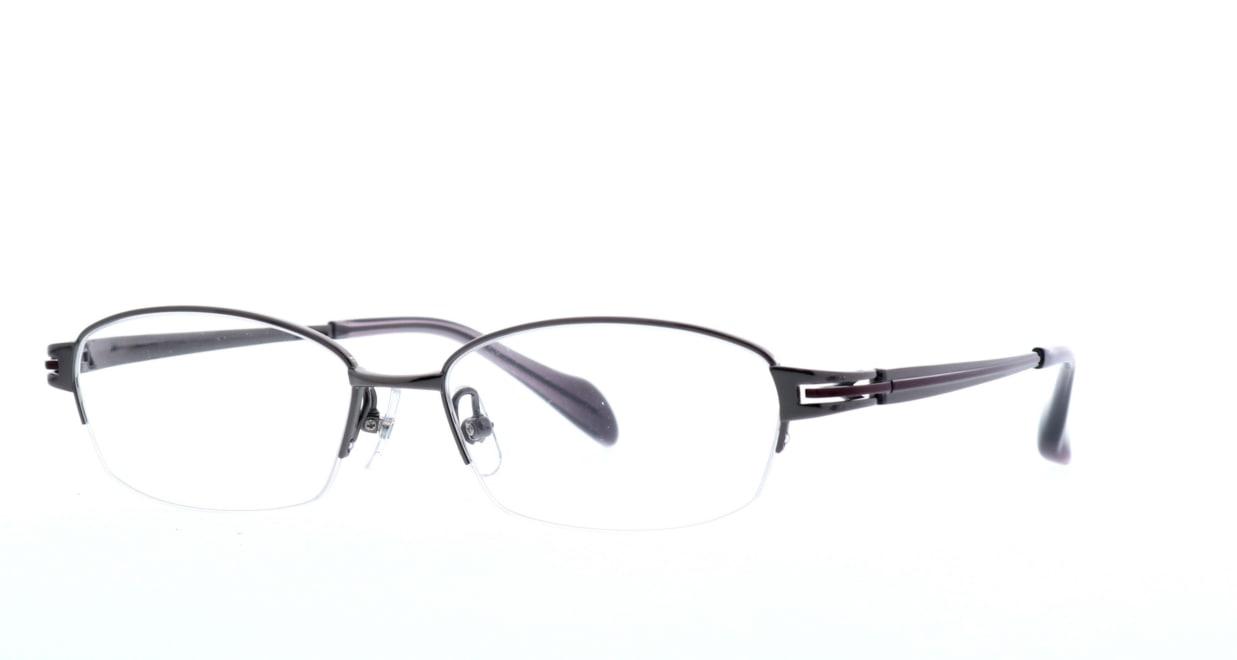 グロック GR1968-5 [メタル/鯖江産/ハーフリム/スクエア/グレー]  1