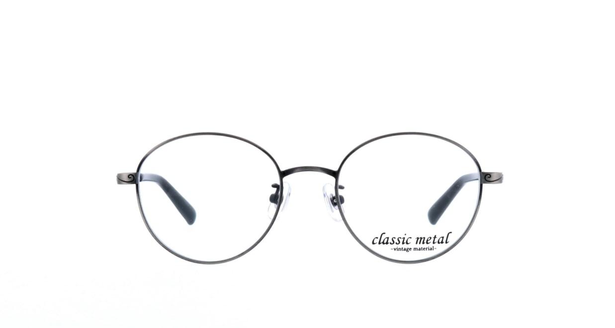 クラシックメタル CM-001-2-49 [メタル/丸メガネ/安い/グレー]