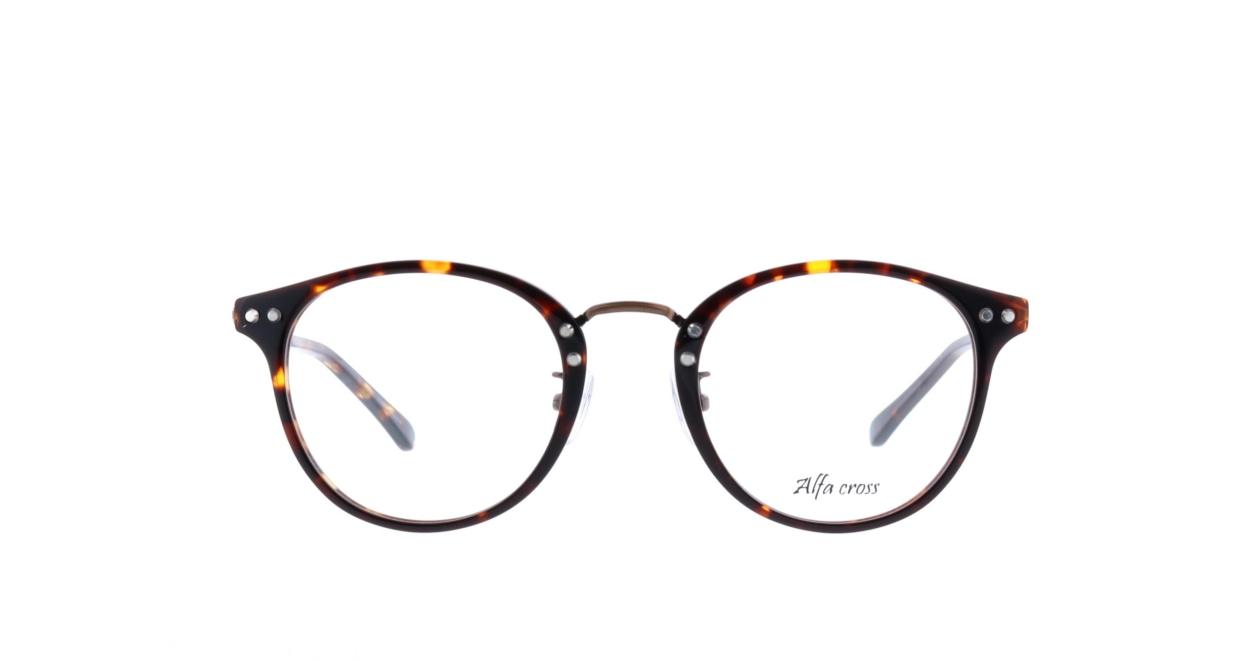 アルファクロス AC-003-2-48 [丸メガネ/安い/べっ甲柄]