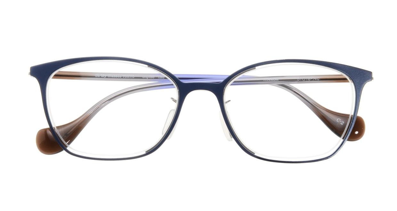 Oh My Glasses TOKYO 1283 omg-095-2 [メタル/鯖江産/ウェリントン/青]  3