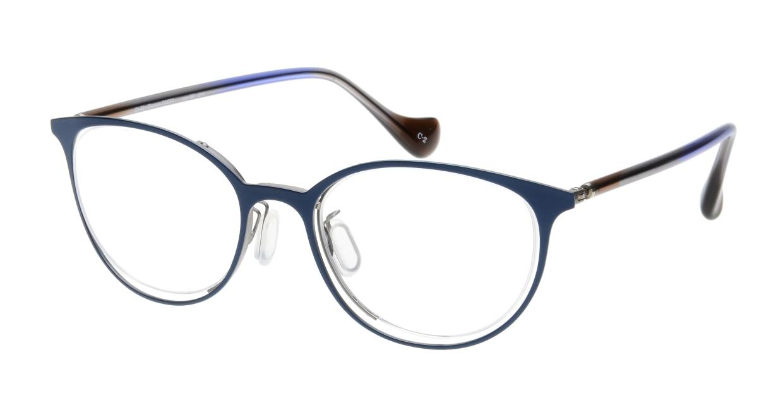 Oh My Glasses TOKYOomg-096-2011-2-49 [メタル/鯖江産/丸メガネ/青]