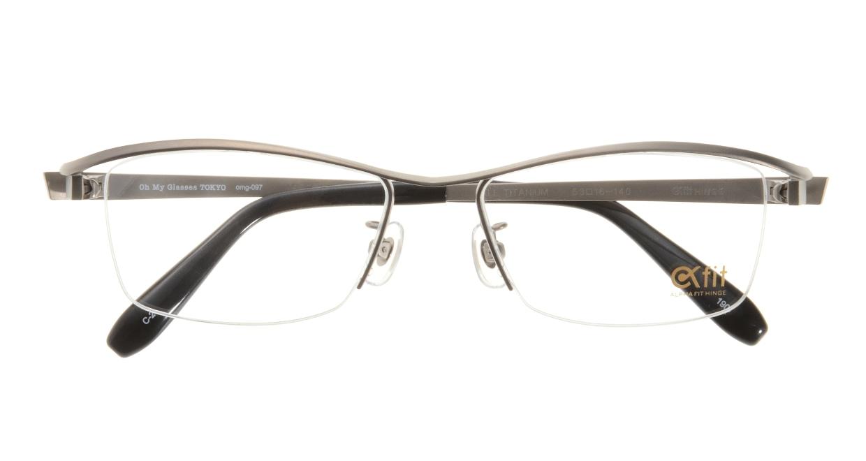Oh My Glasses TOKYO 1905 omg-097-2 [メタル/鯖江産/ハーフリム/スクエア/茶色]  3