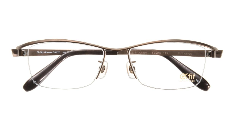 Oh My Glasses TOKYO 1905 omg-097-3 [メタル/鯖江産/ハーフリム/スクエア/茶色]  3