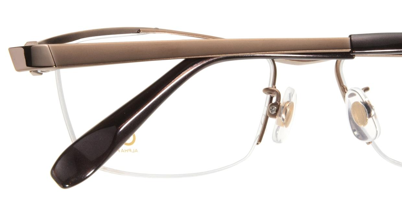 Oh My Glasses TOKYO 1905 omg-097-3 [メタル/鯖江産/ハーフリム/スクエア/茶色]  4