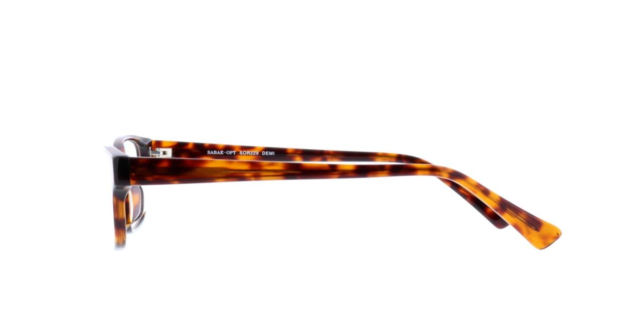 サバエオプト SOR-229-DEMI-52 [鯖江産/ウェリントン/べっ甲柄]  2