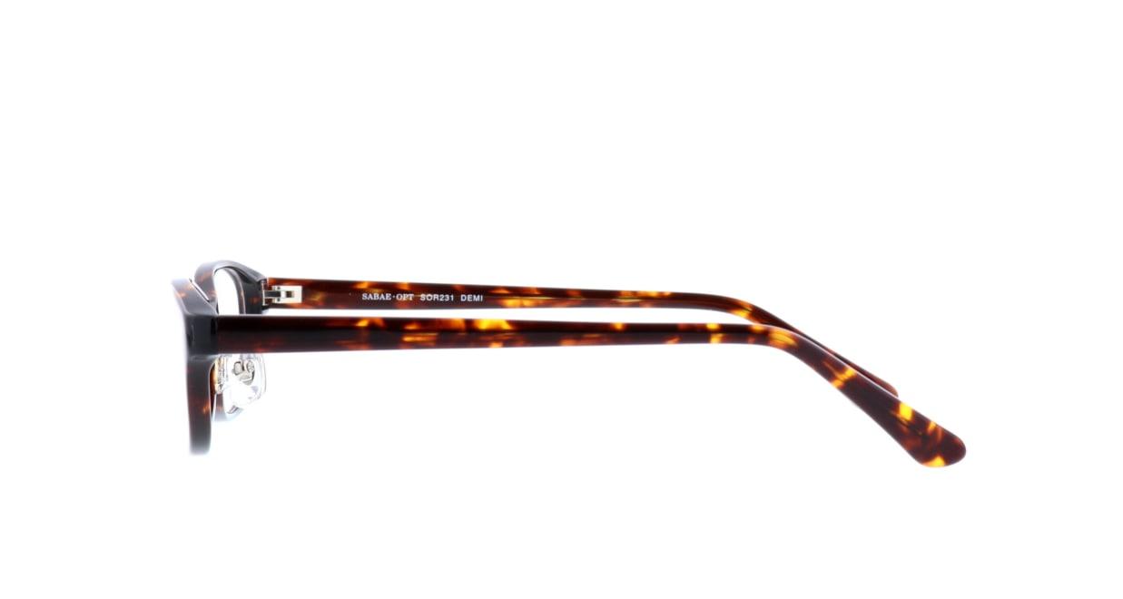 サバエオプト SOR-231-DEMI-52 [鯖江産/スクエア/べっ甲柄]  2