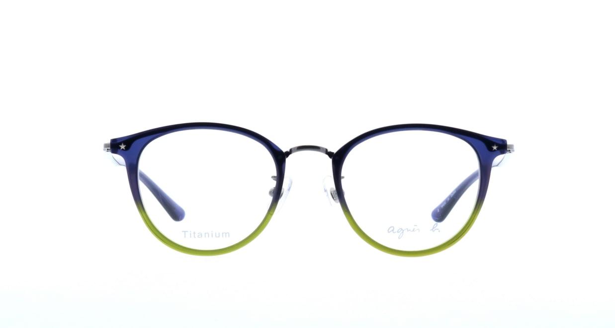 アニエスベー 50-9016-03 [丸メガネ/青]