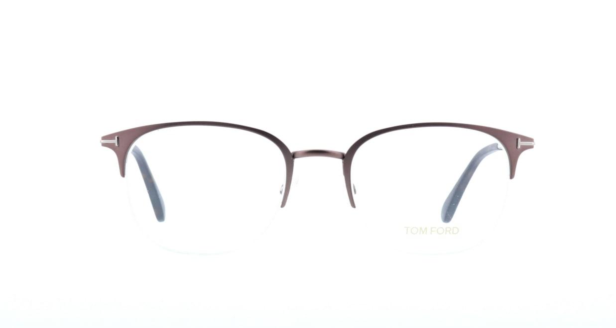 トムフォード FT5452-049-54 [メタル/ハーフリム/ウェリントン/茶色]
