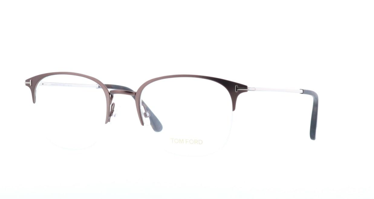 トムフォード FT5452-049-54 [メタル/ハーフリム/ウェリントン/茶色]  1