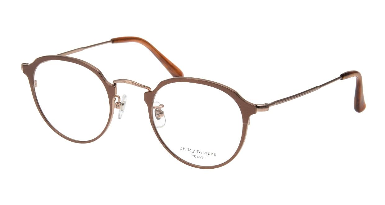 Oh My Glasses TOKYO Zoe omg-093-6-49 [メタル/鯖江産/丸メガネ/茶色]