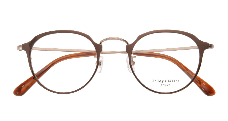 Oh My Glasses TOKYO Zoe omg-093-6-49 [メタル/鯖江産/丸メガネ/茶色]  3