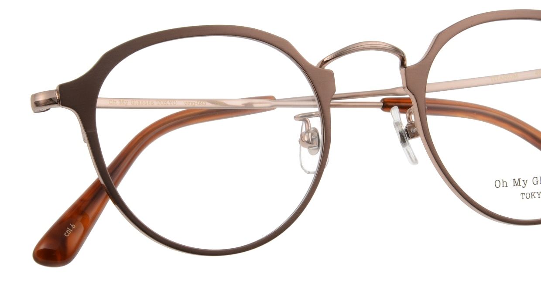 Oh My Glasses TOKYO Zoe omg-093-6-49 [メタル/鯖江産/丸メガネ/茶色]  4