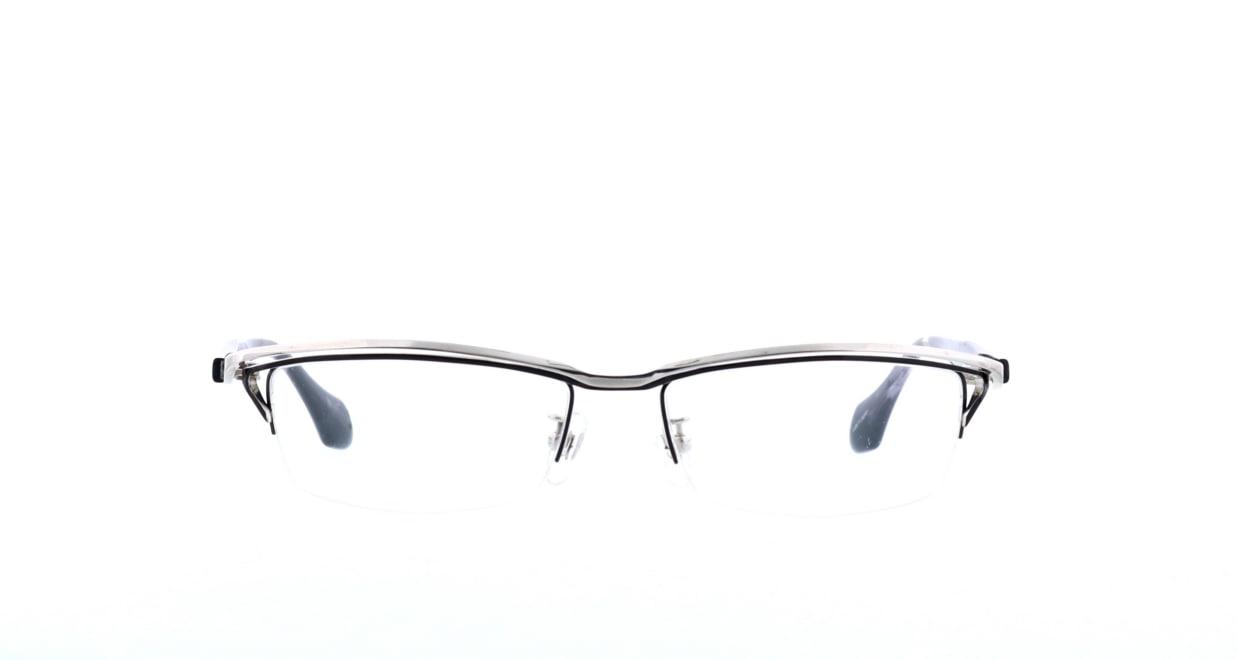 レスザンヒューマン WABI-1010-55 [メタル/鯖江産/ハーフリム/スクエア/シルバー]