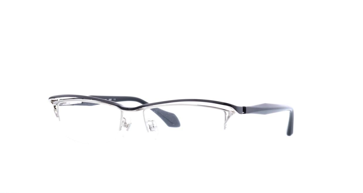 レスザンヒューマン WABI-195S-55 [メタル/鯖江産/ハーフリム/スクエア]  1