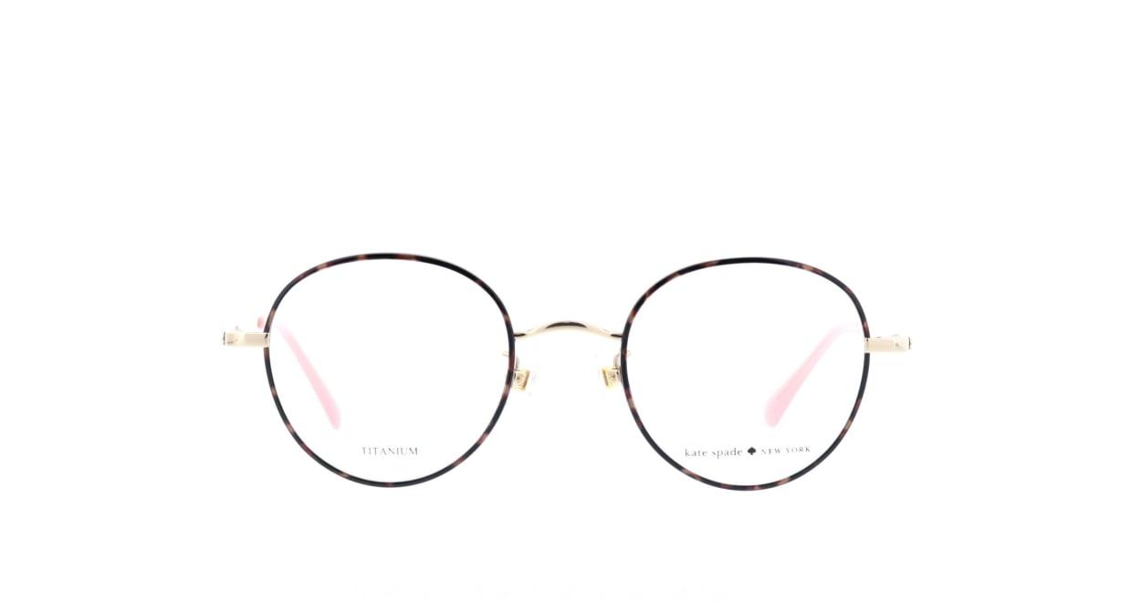 ケイトスペードHELKA/F-OO4-49 [メタル/丸メガネ/べっ甲柄]