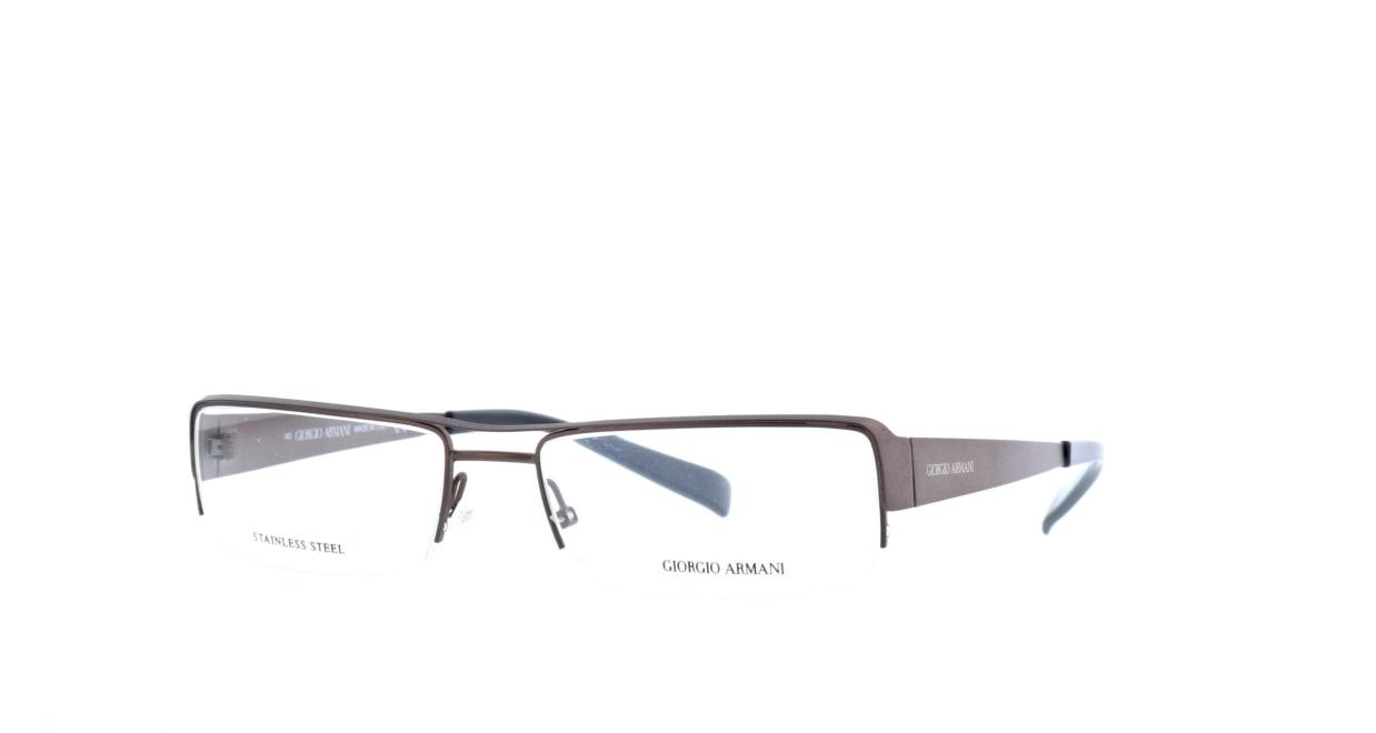 ジョルジオアルマーニ 540-oku-57 [メタル/ハーフリム/スクエア/茶色]  1