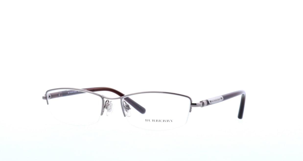 バーバリー BB1197-1110-54 [メタル/ハーフリム/スクエア/シルバー]  1