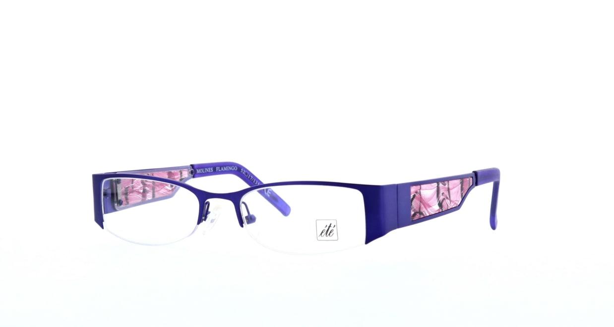 エテ molines-flamingo [メタル/ハーフリム/スクエア/紫]  1