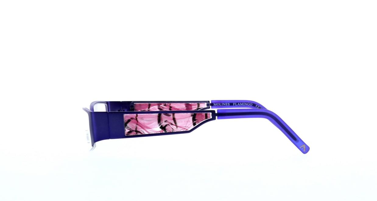 エテ molines-flamingo [メタル/ハーフリム/スクエア/紫]  2