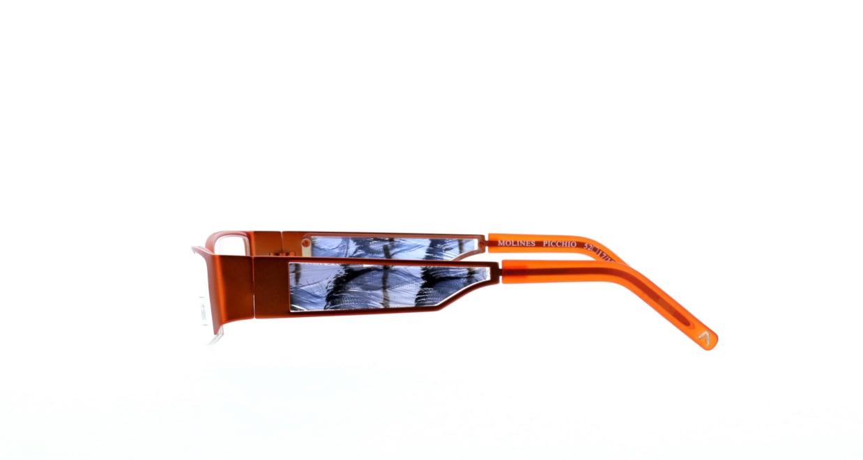 エテ molines-picchio [メタル/ハーフリム/スクエア/オレンジ]  2