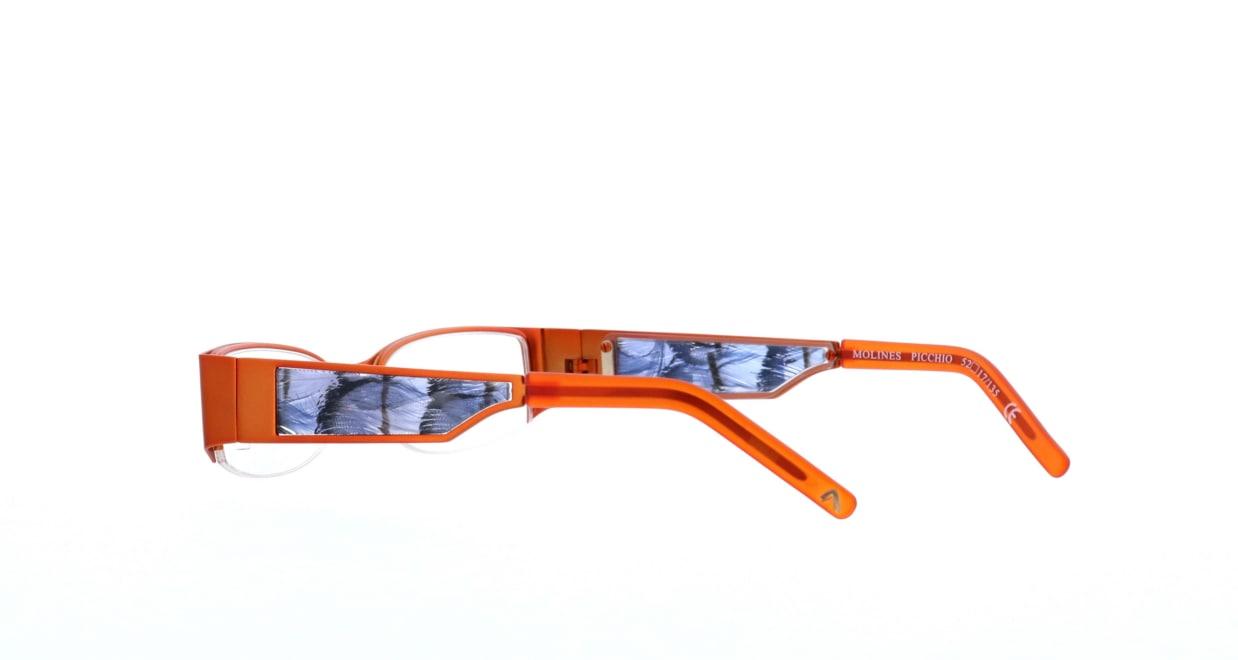 エテ molines-picchio [メタル/ハーフリム/スクエア/オレンジ]  3