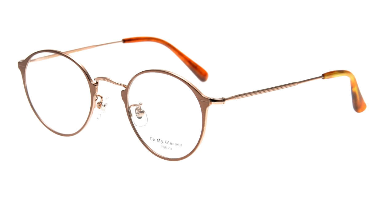 Oh My Glasses TOKYO Sandy omg-046-6-46 [メタル/鯖江産/丸メガネ/茶色]