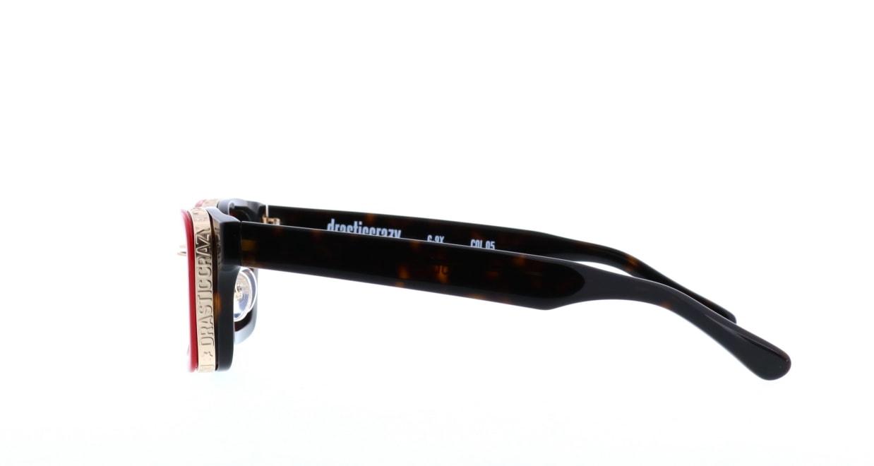 ドラスティック クレイジーG-9X-05 [鯖江産/ウェリントン/赤]  2