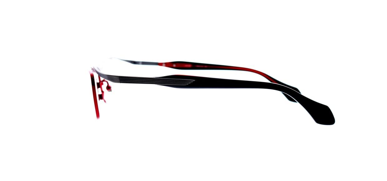 レスザンヒューマン JADE-2101-55 [メタル/鯖江産/スクエア/赤]  2
