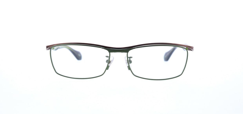 レスザンヒューマン JADE-2020-55 [メタル/鯖江産/スクエア/緑]
