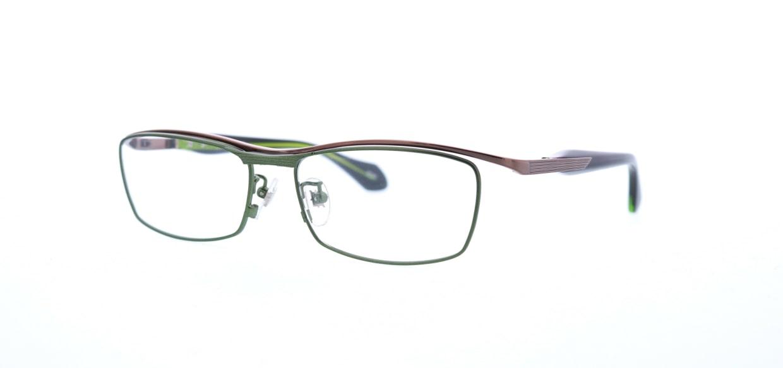 レスザンヒューマン JADE-2020-55 [メタル/鯖江産/スクエア/緑]  1