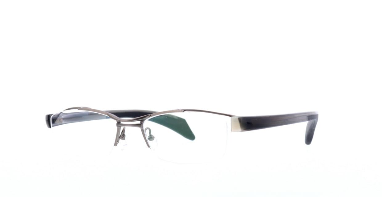 ジャポニスム JN-507-5-54 [メタル/鯖江産/ハーフリム/スクエア/シルバー]  1