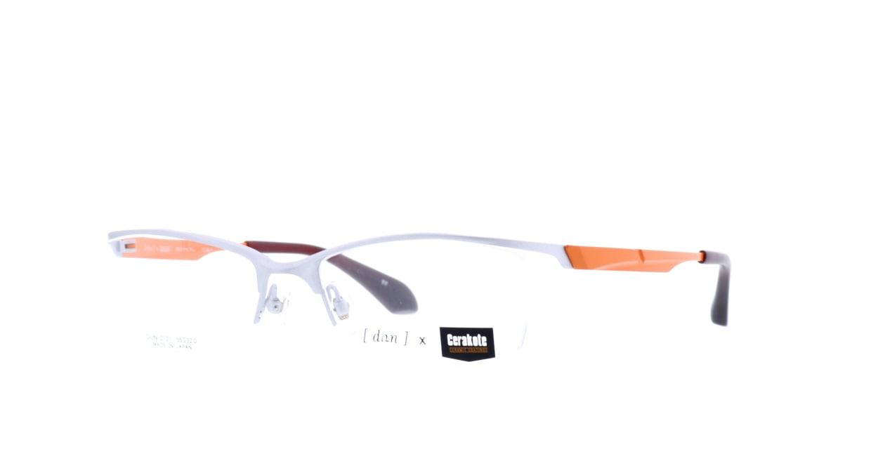 ドゥアン DUN-2121-17-55 [メタル/鯖江産/ハーフリム/スクエア/シルバー]  1