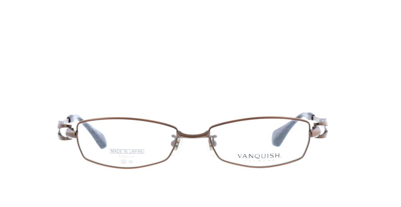 ヴァンキッシュ VQ-1010-C-2-BR [メタル/鯖江産/スクエア/茶色]