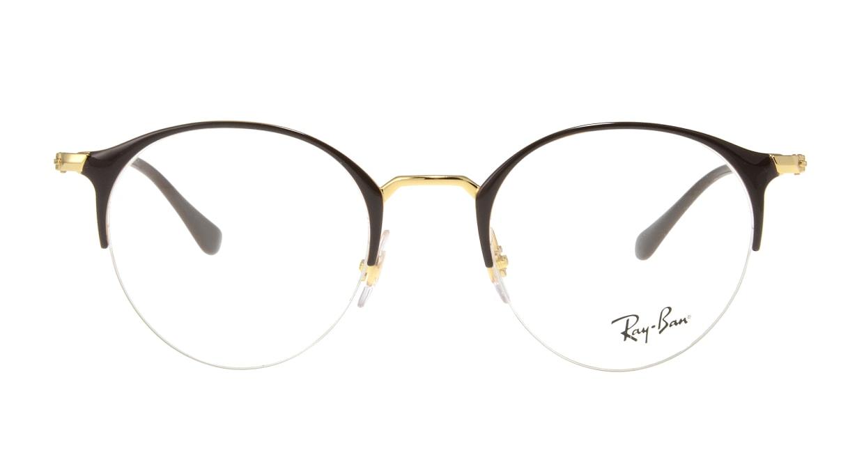 レイバン RX3578V-2905-48 [メタル/ハーフリム/丸メガネ/茶色]
