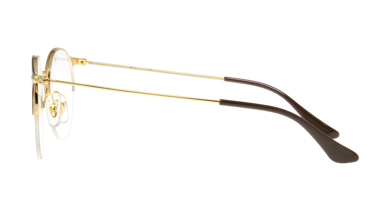 レイバン RX3578V-2905-48 [メタル/ハーフリム/丸メガネ/茶色]  2