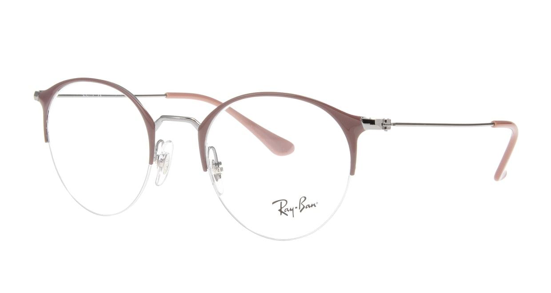 レイバン RX3578V-2907-48 [メタル/ハーフリム/丸メガネ/紫]  1
