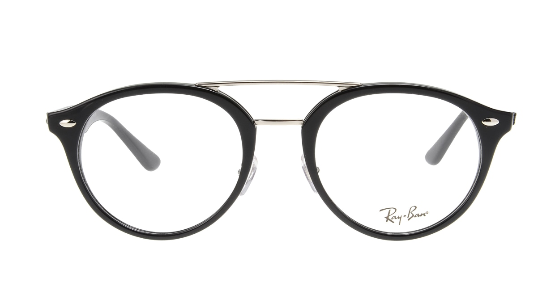 レイバン RX5354F-2000-52 [黒縁/丸メガネ]