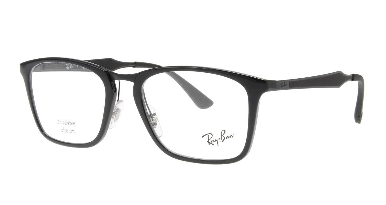 レイバン RX7131-2000-53 [黒縁/ウェリントン]  1