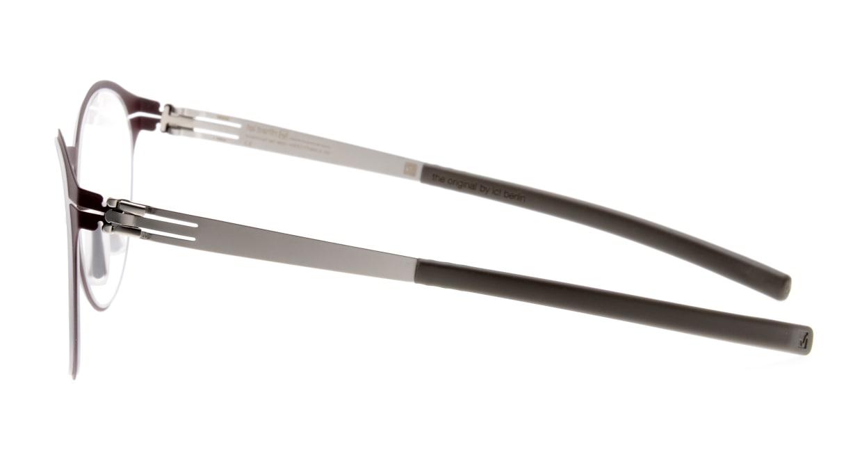 アイシーベルリン Crossley-Bordeaux/Pearl/Warm Grey [メタル/丸メガネ/茶色]  2