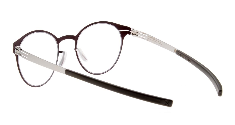 アイシーベルリン Crossley-Bordeaux/Pearl/Warm Grey [メタル/丸メガネ/茶色]  3