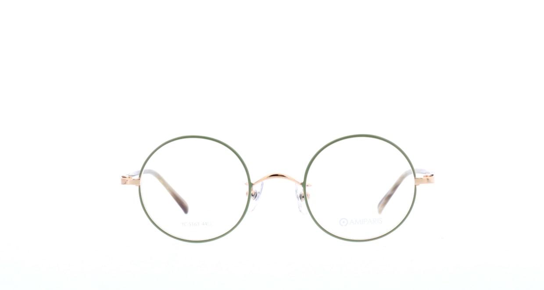 アミパリ TC-5163-77-44 [メタル/鯖江産/丸メガネ/緑]