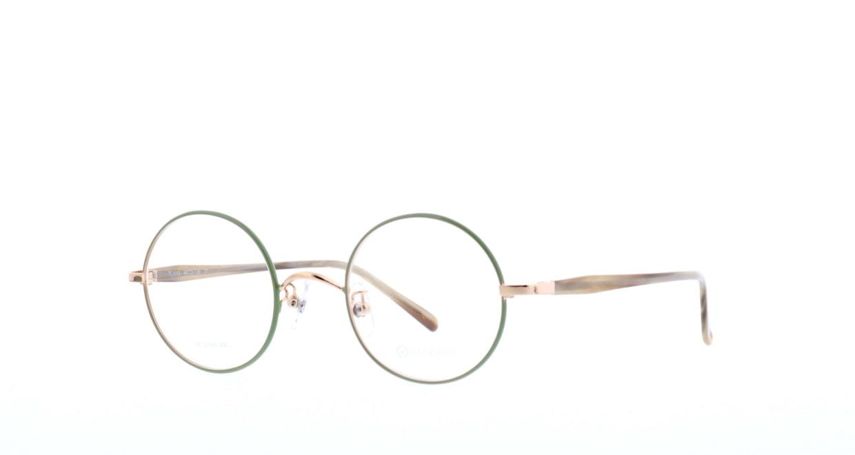 アミパリ TC-5163-77-44 [メタル/鯖江産/丸メガネ/緑]  1