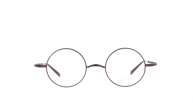 アミパリ TS-8045-4-44 [メタル/鯖江産/丸メガネ/茶色]