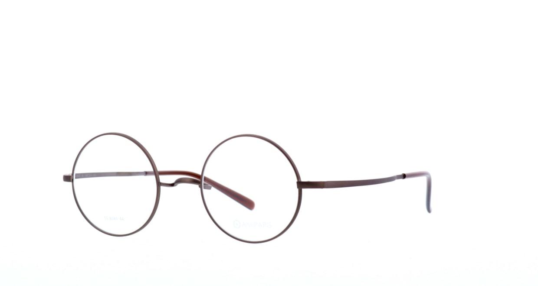アミパリ TS-8045-4-44 [メタル/鯖江産/丸メガネ/茶色]  1