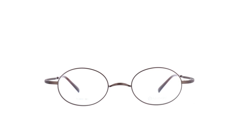 アミパリ TS-8047-4-46 [メタル/鯖江産/オーバル/茶色]