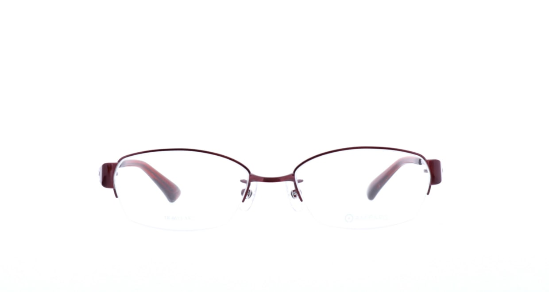 アミパリ TR-8613-16-53 [メタル/鯖江産/ハーフリム/スクエア/赤]