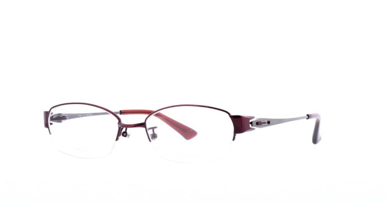 アミパリ TR-8613-16-53 [メタル/鯖江産/ハーフリム/スクエア/赤]  1