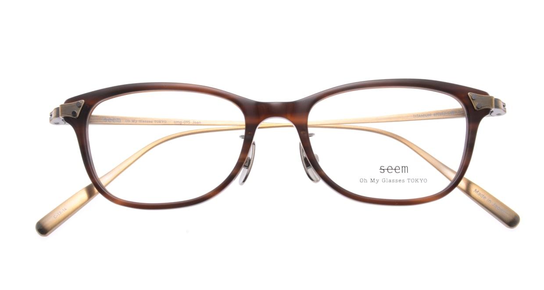 seem Oh My Glasses TOKYO Joan omg-095-17-14 [鯖江産/ウェリントン/茶色]  4