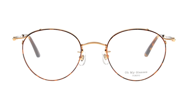 Oh My Glasses TOKYO Spencer II Brown Demi [メタル/鯖江産/丸メガネ/べっ甲柄]