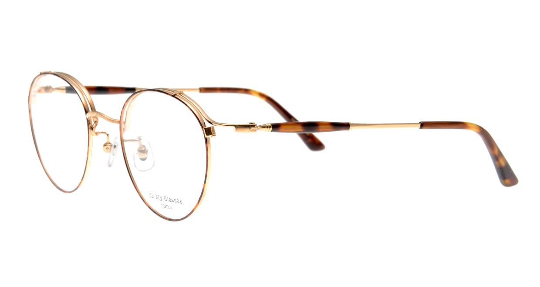 Oh My Glasses TOKYO Spencer II Brown Demi [メタル/鯖江産/丸メガネ/べっ甲柄]  1